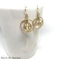 Drop earrings with hoop and bead