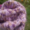 child's crocheted beret, acrylic and bamboo