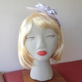 "Sunflower Headband Fascinator - ""White Beauty"""