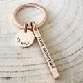 Godmother Keyring, Gift For Godmother, Name Keyring, Inspiration Keyring