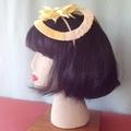 "Sunflower Headband Fascinator - ""Cream Delight"""