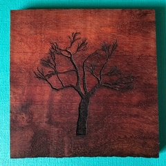 Engraved Redgum Coasters - Tree 3