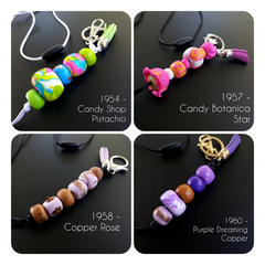 Lanyard - Hand-Blended Polymer Clay Beads, Office/Teacher Lanyard - pick from 4