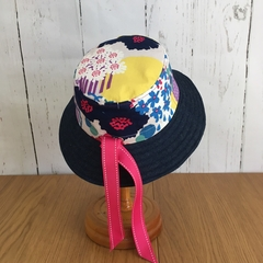 Sun hat - Hana Blossoms - 3-5 yrs