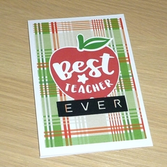 Best Teacher Ever card