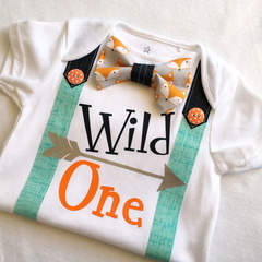 Wild One First Birthday Bodysuit.