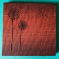 Engraved Redgum Coasters - Dandelion