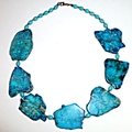 Sea sediment jasper and turquoise necklace
