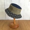 Toddler bucket hat - Geo Linen - 2 yrs