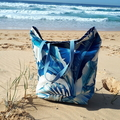 COASTAL  XL REVERSIBLE TOTE(Water-resistant)