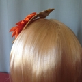 "Sunflower Headband Fascinator - ""Golden Surprise"""