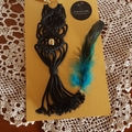 Black Macrame Handbag Charm