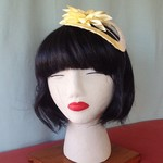 "Sunflower Headband Fascinator - ""Cream Delight"""