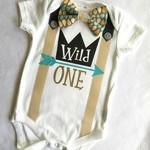Wild One First Birthday Bodysuit.