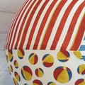 Balloon Ball: Beach Balls with Blue centre and Red stripe side.