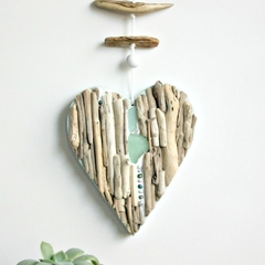 Driftwood heart with bead detail