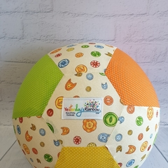 Balloon Ball: Buttons with Green, Orange & Yellow micro dot spot.