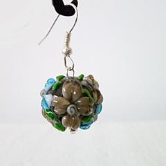 Lamp work glass earrings