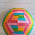 Balloon Ball: Kaleidoscope Rainbow stripe.