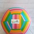 Balloon Ball: Kaleidoscope Rainbow stripe.