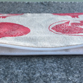 Unlined block printed zipper pouch | makeup bag, pencil case