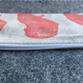 Unlined block printed zipper pouch | pencil case
