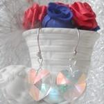 Heart Swarovski crystal earrings