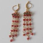 long red dangly earrings