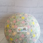 Balloon Ball: Flowers on soft Grey