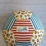 Balloon Ball: Beach Balls with Red centre & Blue stripe side.