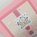 Baby Girl Card - Ten Little Fingers