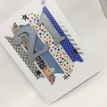 Birthday Card - 21st Washi strips and stars