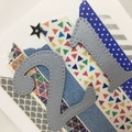 Birthday Card - 21st Washi strips and stars