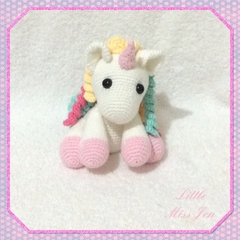 Crocheted Amigurumi Unicorn