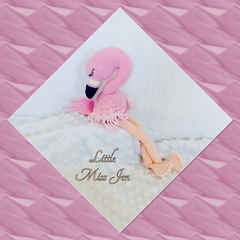 Crocheted Amigurumi Flamingo