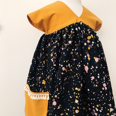 Size 2 - Sedona Dress - Mustard - Paint Splats - Cotton - Retro -