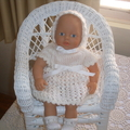 Knitted set for small dolls 31 to 36cm