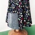 Size 3 - Sedona Dress - Teal Floral - Cotton - Retro