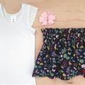 Skirt - Teal Floral - Sizes 1-5