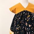 Size 2 - Sedona Dress - Mustard - Paint Splats - Cotton - Retro -