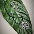 SPIDER WEB NECKLACE + EARRING SET