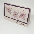 Thinking of You Card - Dusty Purple on Soft Peach