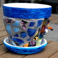 Pots for plants - Mosaic flower pot - Duck