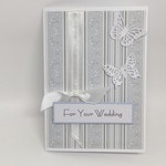 Wedding Card - Silver and White