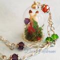 Woodland Rabbit Terrarium Necklace