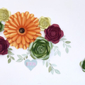 Autumn- Inspired Set of Paperflowers/ Wall Decor/ Home Decor