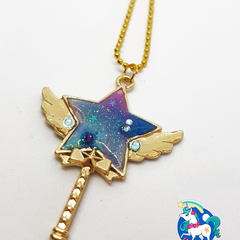 Galaxy Star Wand Necklace