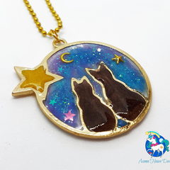 Galaxy Cats Necklace