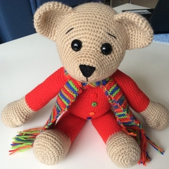 Sebastian - Crocheted Bear 36cm