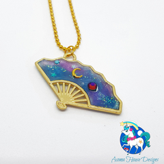 Galaxy Celestial Fan Necklace
